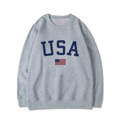 USA Letter print New women fashion Long Sleeve Hoodie Sweatshirt Harajuku Jumper Hooded Pullover Casual Loose White chic Tops