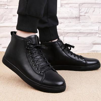 Winter Snow Boots Men 2020 Brand Men Warm Boots Male Ankle Lace-Up Casual  Fashion Handmade Leather With Fur Men's Boots