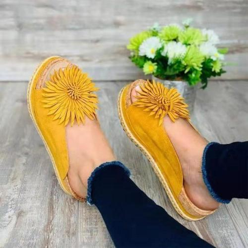 Bow Flats Sandals Women Ladies 2020 Torridity New Fashion Slip on Peep Toe Casual Female Sandals Flower  Sandalias De Mujer