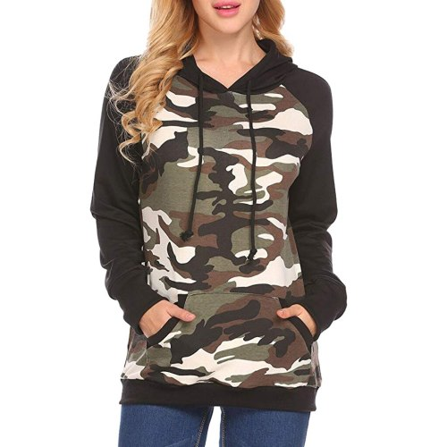Women Sweatshirts Streetwear Camouflage Print Hoodies Pullovers 2020 Autumn Casual Long Sleeve O-Neck Tops Female Sweatshirt #F5