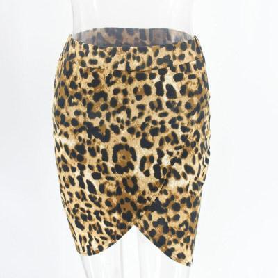Foridol vinatge leopard print slit bodycon mini skirt womens high waist office ladies skirt bottoms chi c streetwear slim skirt