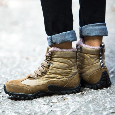 Winter Warm Fur Snow Boots Male Shoes For Men Adult Fashion Cow Suede Walking Work Safety Ankle Footwear Sneakers 2020 New