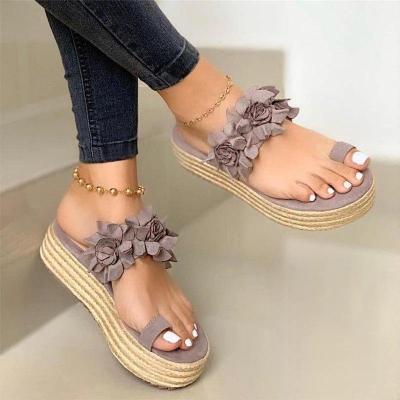 Women Summer Sandals Ladies Open Toe Slip On Flower Platform Thong Shoes Woman Fashion Comfort Casual Female Sandalias