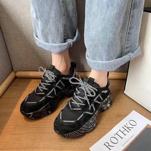 Platform Sneakers For Women 2020 Autumn Fashion Sports Mesh Casual Shoes Luxury Designers Chunky Woman Dad Shoes Tenis Female