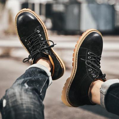 Cow Leather Men Boots Spring Autumn And Winter Man Shoes Ankle Boot Men's Snow Shoes Winter Retro Men's Tooling Shoes