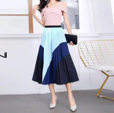 Summer Skirts Womens 2020 New Print Cartoon Pattern Empire High Elastic Women Midi Skirts Big Swing Party Holiday Mid-Calf