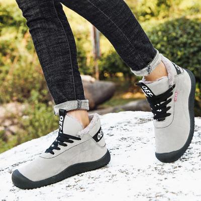 Brand Men Snow Boots Winter Plush Warm Men Boots Lace-Up Non-slip Male Ankle Boots Waterproof Autumn Man Work Shoes