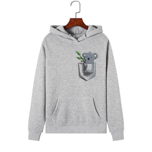 Hoodies Women 2020 Brand Female Long Sleeve Cute Animal Koala Print Hooded Sweatshirt Tracksuit Pullover Casual Sportswear S-2XL