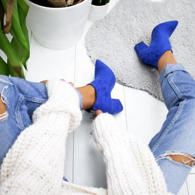 SHUJIN 2020 New Women Shoes Ankle Boots Sexy Short Boots High-heel Fashion Pointed Europe Shoes Woman Plus Size Dropshiping
