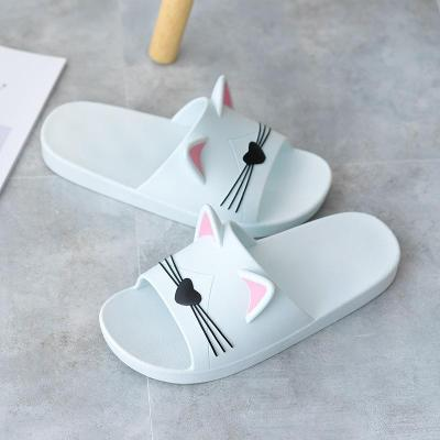 2020 Women Slippers Flat Couples Home Cat Ear Design Cartoon Animation Ladies Casual Female Shoes Women 's Footwear Big Size