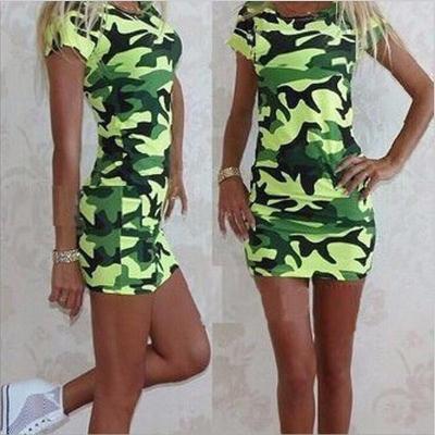 Cute Cartoon Printing Summer Dress Women Sheath Half Sleeve Bodycon Vestidos O Neck Elegant Mini Casual Ladies Dress