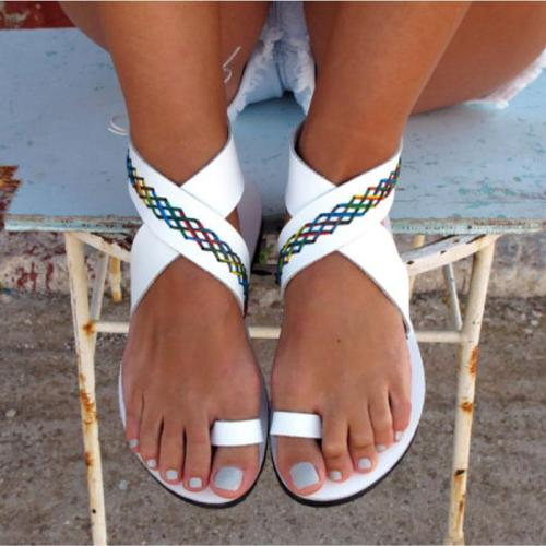 Women sandals fashion roman style summer shoes woman flats casual peep-toe slipper sandals beach women shoes sapato feminino
