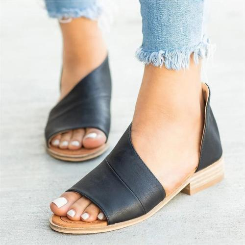 Women Sandals 2019 Fashion Summer Shoes For Women Low Heels Sandals Chaussures Femme Peep Toe Women Casual Shoes Woman Clog