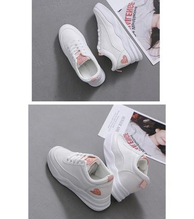 Waterproof casual shoes women spring flat white platform sneakers 2020 fashion leather Women Vulcanize Shoes Zapatos Mujer VT282