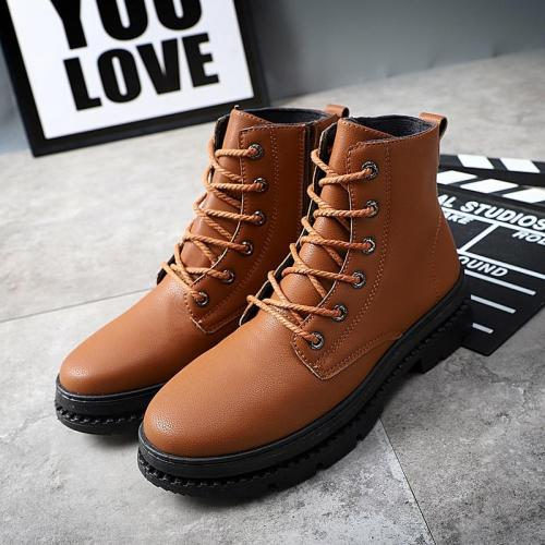 High Quality  Leather Autumn Men Boots Winter Waterproof Ankle Boots Outdoor Working Boots Men's Shoes Trend Wild  2020 New