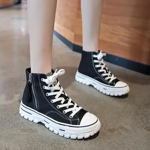 Women's vulcanized shoes canvas sneakers color women casual shoes comfortable breathable flats shoes woman U12-32