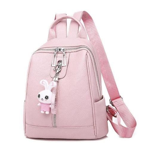 PU Leather Backpack Bags For Women Anti Theft Large Capacity Ladies Travel Backpack Cute Ribbit School Bagpack For Teenage Girls