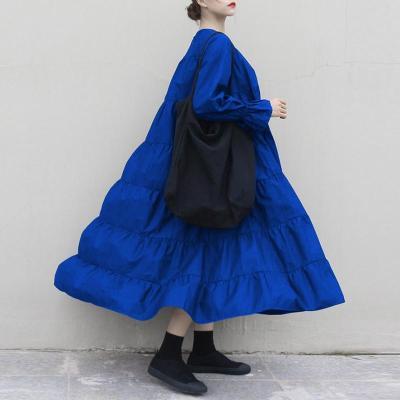 Plus Size Women Autumn Sundress Long Sleeve Big Swing Party Maxi Long Dress 2020 VONDA Casual Baggy Vestidos Casual Dress 5XL