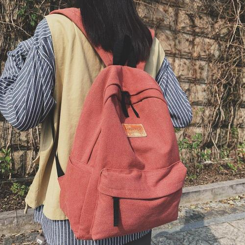 Student Kawaii Female Backpack Canvas Women Vintage School Bag Teenage Girl Fashion Backpacks Cute Ladies Luxury Cotton Bag Book