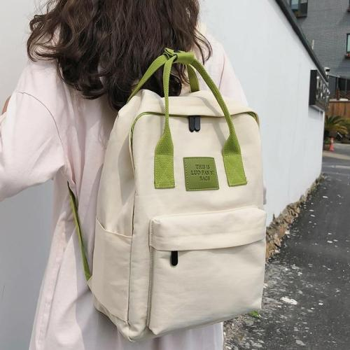 Nylon fabric women white backpack teenage girl Applique waterproof backpack school female Student book bag fashion casual ladies