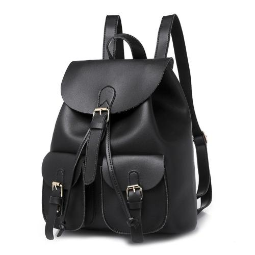 Multiple Pockets Outdoor Travel Backpack Bags For Women PU Leather Solid Female Ladies Bagpack School Backpack For Girls