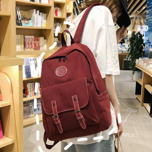 Fashion Buckle Nylon Backpack Cute Women Kawaii School Bag Student Teenage Girl Backpack Harajuku Female Luxury Bags Book Ladies