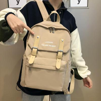 Women Student Cute Backpack Kawaii Waterproof Nylon School Bag Girl Fashion Buckle Laptop Backpack Female Book Bag Ladies Luxury
