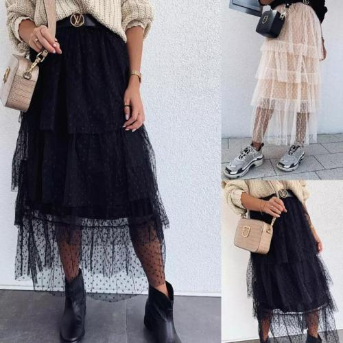 hirigin Women Tulle Tutu Long Elastic Waist Skirt Wedding Party Prom High Waist Fashion Lovely Mesh Maxi Skirts