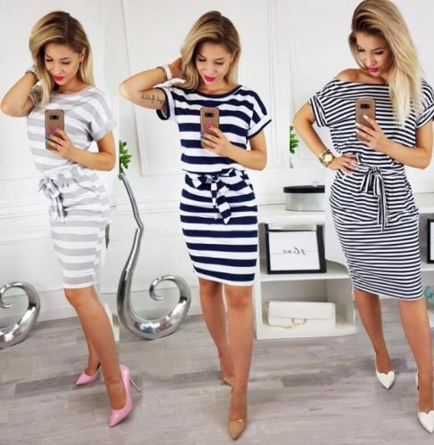 Short Sleeve Loose T Shirt Dress For Ladies 2020 Summer Dress Women Plus Size Pocket Casual Cotton Midi Wrap Dress Female Beach