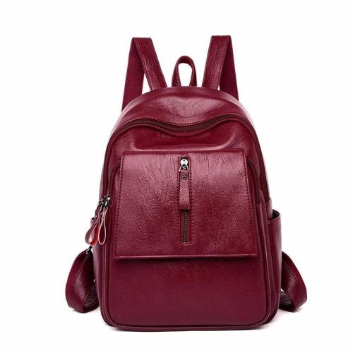 2020 Luxury Leather Backpacks Women Designer Ladies Bagpack Vintage Large Capacity Solid Backpacks For Girls Female Back Pack