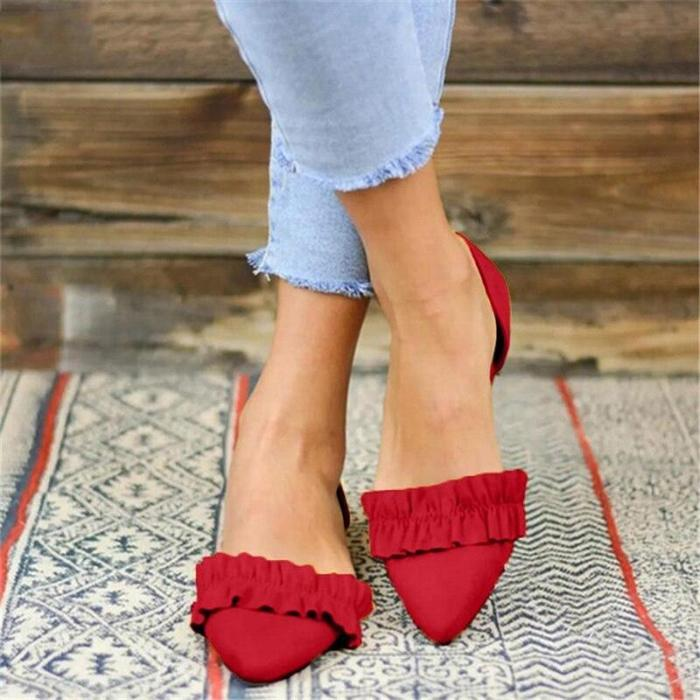 Big Size 34-43 Women Flats Shoes 2020 New Fashion  Single shoes Woman Loafers Spring Autumn Shallow Comfort Flat Casual Women