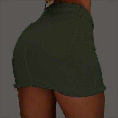 Women's Pencil Denim Jean Mini Skirt High Waist Button Slim Sexy Fashion Casual Party Bodycon
