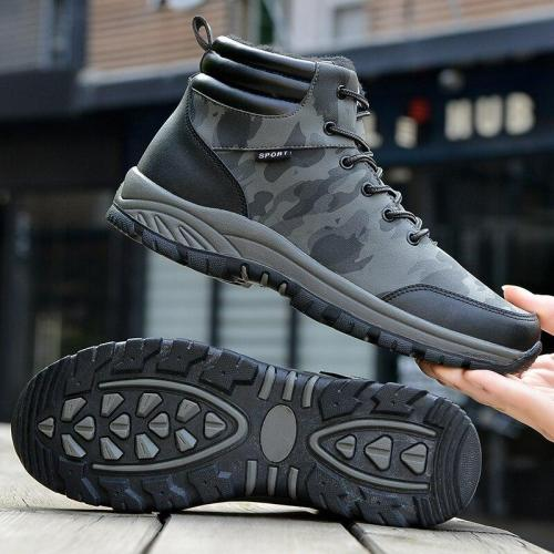 Winter thick plush men's snow boots Men's boots shoes winter warm non-slip shoes fashion ankle boots men's Botas Hombre 2020