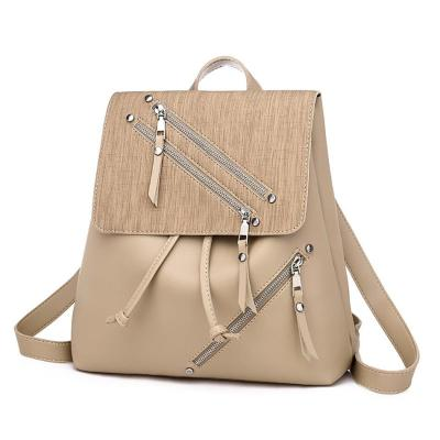 Female PU Leather Backpack Bags For Women Tassel Zipper Shoulder-bag Bagpack Female Ladies Outdoor Travel Backpack