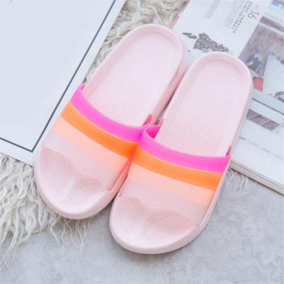 Women Summer Rainbow Slippers Girls Non Slip Soft Beach Ladies Slides Flats Shoes Home Woman Slipper Outdoor Footwear 2020 New