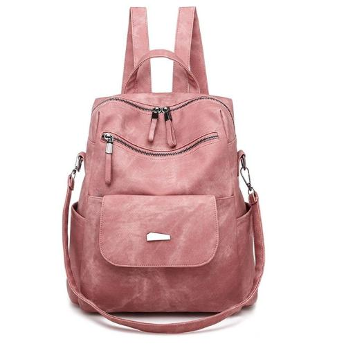 Travel Backpack Bags For Women PU Leather School Bag Multifunction Ladies Bagpack Large Capacity Backpack