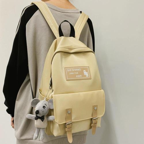 Student Female Cute Backpack Women Fashion School Bag Harajuku Girl Waterproof Nylon Kawaii Backpack Doll pendant Ladies Bag New