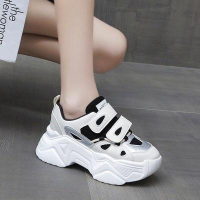 Women Platform Sneakers 2020 Autumn Fashion Brand Casual Shoes Chunky 7cm Vulcanized Shoes Woman Thick Soled Trainers Ladies