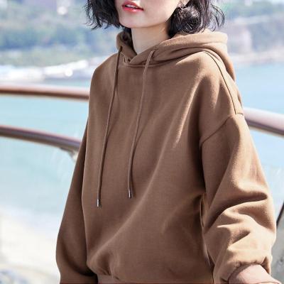 2020 New Plus velvet Basic Hoodies For Women Leisure Female winter Solid Colour Casual SweatshirtHip Pop Tops