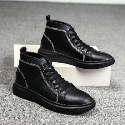 Warm Men's Boots Winter Genuine Leather Ankle Boots Waterproof Snow Boots Motorcycle Martin Boots Men Shoes Big Size 48