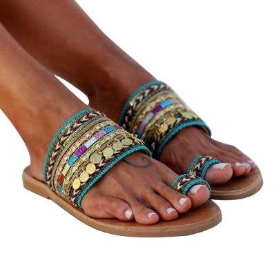 Women Summer Shoes Boho Artisanal Flat Sandals Ladies Handmade Greek Style Flip Flop Slippers Sandals Sandalia Feminina 2020