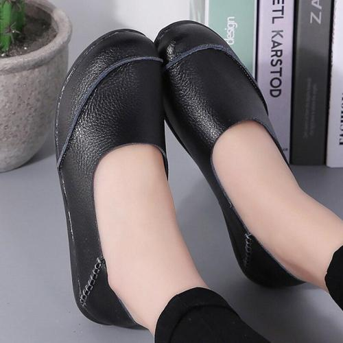 Comfortable Ladies Boat Shoes Genuine Leather Big size 35-44 Women Flats shoes Soft Ladies Lazy shoe chaussure femme