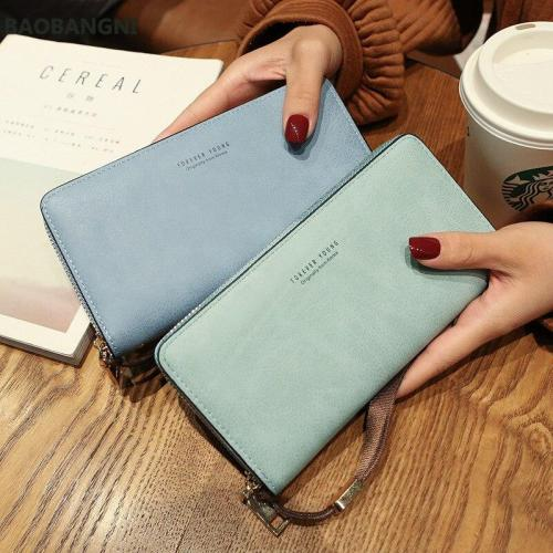 Wallet women mobile phone bag Brand Designer Female card PU Leather Long Womens Wallets and purses Ladies slim card holder purse
