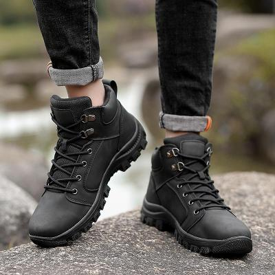 2020 Winter Waterproof Men's Casual Boots Tide British Wind Casual Leather Mens Winter Boots High Top Fashion Men's Martin Boots