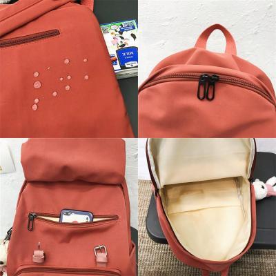 Women Student Cute Backpack Waterproof Nylon School Bag Girl Kawaii Fashion Backpack Buckle Laptop Female Book Bag Ladies Luxury