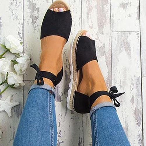 Women Sandals Plus Size Summer Shoes With Platform Sandals Female Ankle Strap Flat Sandalias Mujer Casual Beach Chaussures Femme