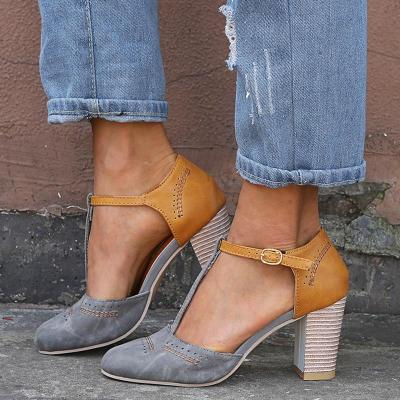 Summer  female sandals sexy heels single shoes women shoes in Europe and America 2019 spring fashion trend
