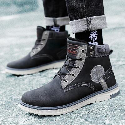Men Outdoor Waterproof Boots Sneakers Ankle Working Boots Footwear Mens Shoes Plus cotton warm Brand Autumn Winter Work Boots