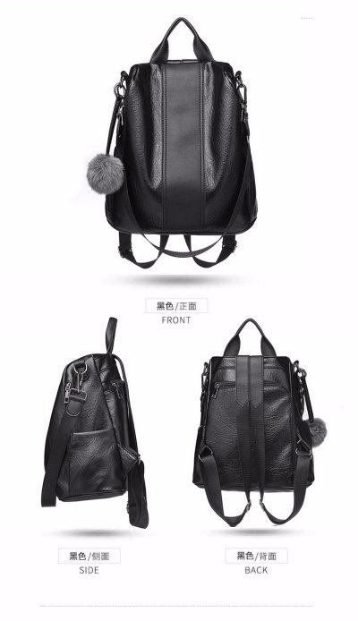 Women Leather Backpacks Large Capacity Sac A Dos Ladies Bagpack School Bags for Girls Female Back Pack Casual Daypack for Girls