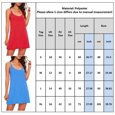 Spaghetti Strap Women Dresses Casual Solid Color Round Neck Ladies Mini Dress Back Sheath Loose Straight Female Dress Summer D30
